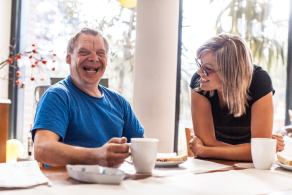 Carer with supported person